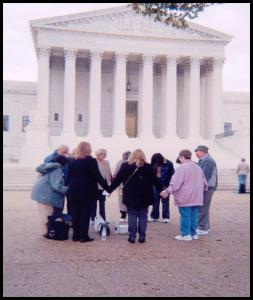 Prayer at Supreme Court 2004 circle of prayer